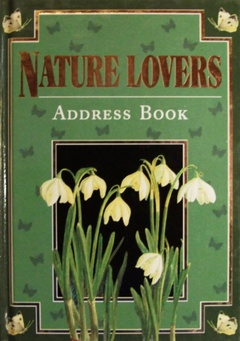 obálka: Nature lovers address book